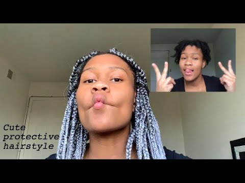 How do do box braids over dreads    protective hairstyle for dreads! thumbnail