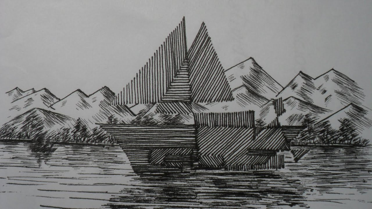 Dibujo De Lineas Paisaje: COMO INICIARSE EN DIBUJO- LECCIÓN Nº 1. CURSO PRÁCTICO DE