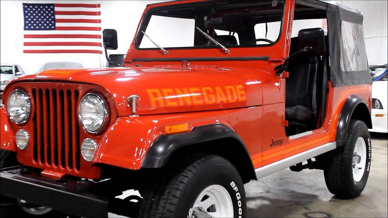 1986 jeep cj 7 renegade [ 1280 x 720 Pixel ]