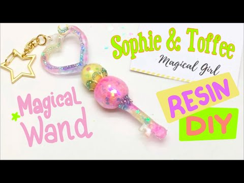 Magical Wand/Magical Girl- Sophie and Toffee- The Elves box- UV resin- DIY