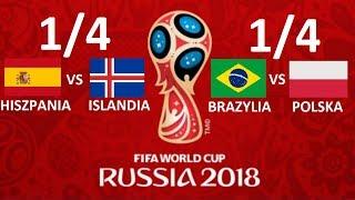 TURNIEJ PANINI WORLD CUP RUSSIA 2018 #17 - 1/4 - HISZPANIA VS ISLANDIA, BRAZYLIA VS POLSKA !!!