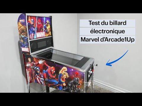 Évaluation du billard électronique Marvel d'Arcade1Up from Best Buy Canada Product Videos