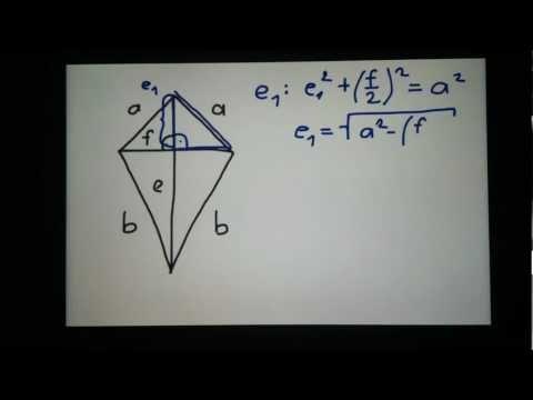 Deltoid-Diagonalen berechnen