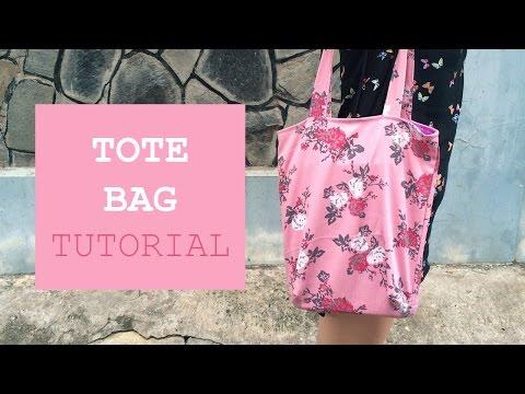 DIY - Tote Bag Tutorial - Tự may túi vải