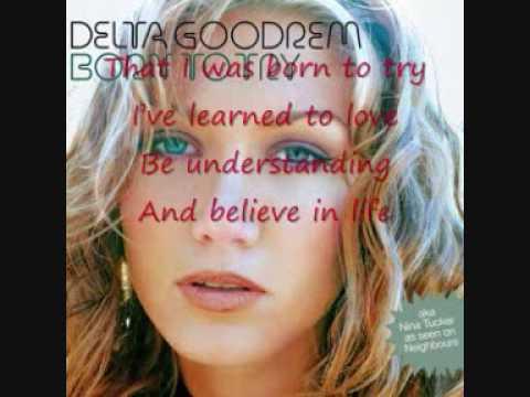 Delta Goodrem Born To Try Karaoke w/ lyrics