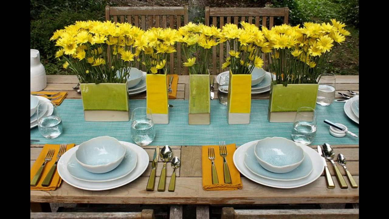 37 Table Decoration Ideas For A Summer Garden Party Table Decorating Ideas
