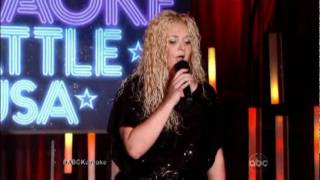 """Karaoke Battle USA ABC Charlotte Hicks singing """"I'm the only one"""" in HD"""