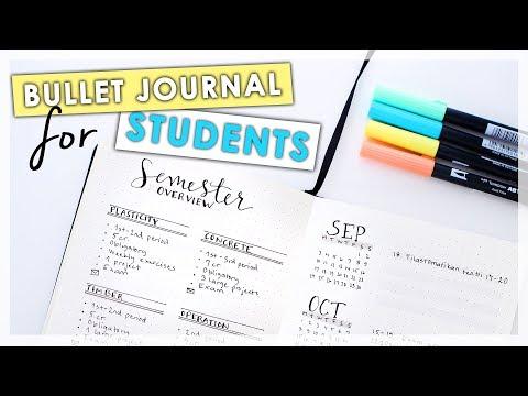 Bullet Journal Ideas For STUDENTS || New School Setup