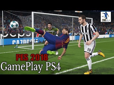 PES 2018 Gameplay PS4 Barcelona Vs Juventus| UEFA Champions League| Camp Nou| بيس18