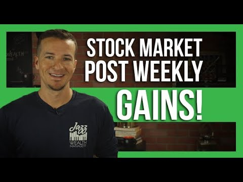 Stock market posts another solid week, hitting records.
