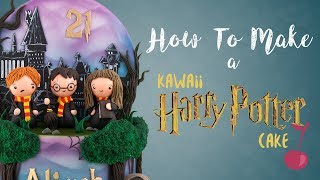 Cute Kawaii Harry Potter Cake Tutorial | How To | Cherry School