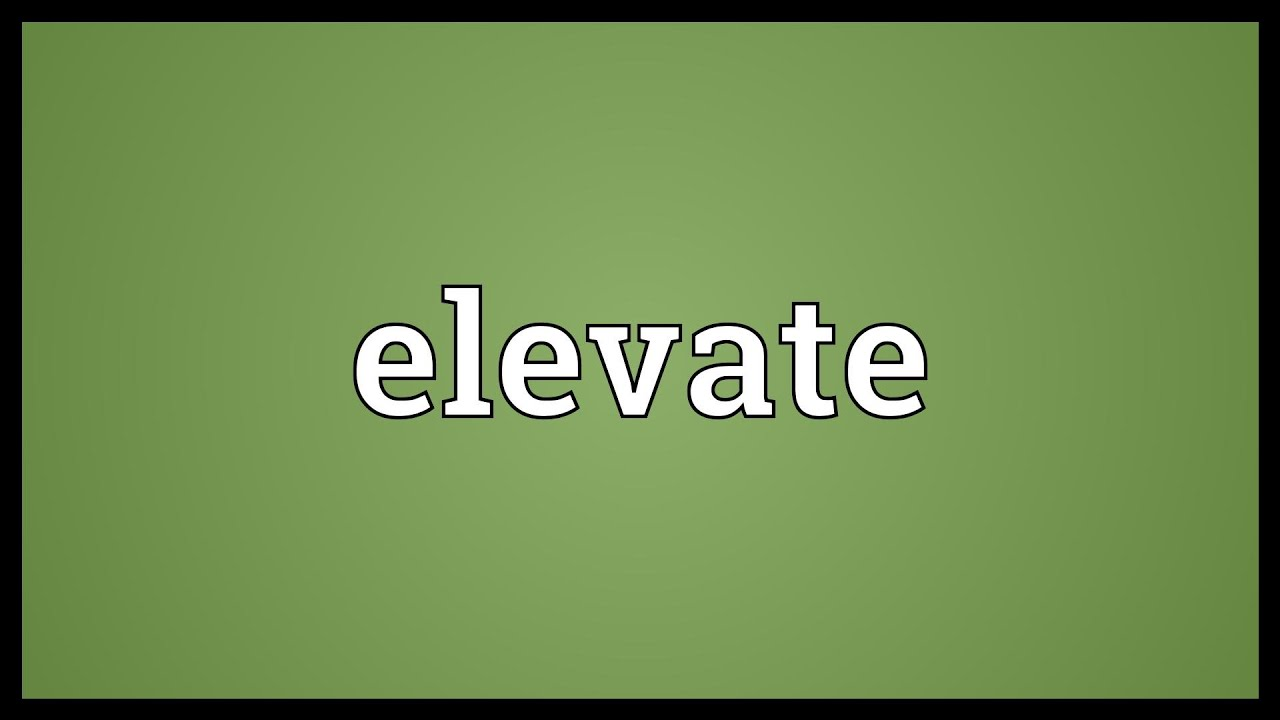 Elevate meaning in english