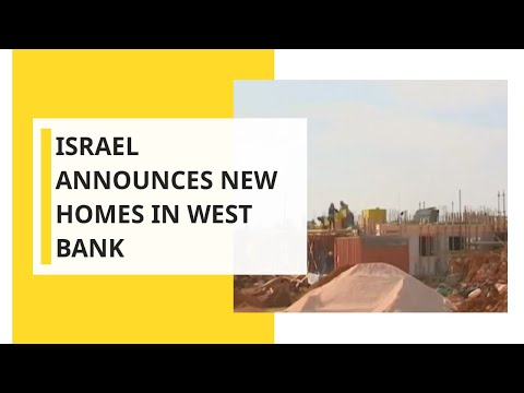 Israel Announces New Homes In West Bank