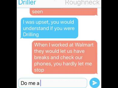 Driller & Roughneck Text Message