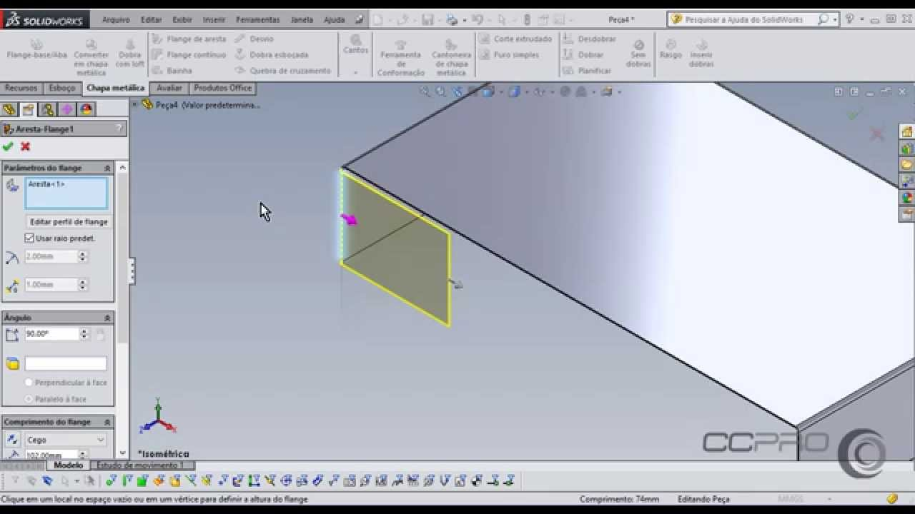 Sheet Metal Aula 02 Chapa Met 225 Lica Solidworks Celso