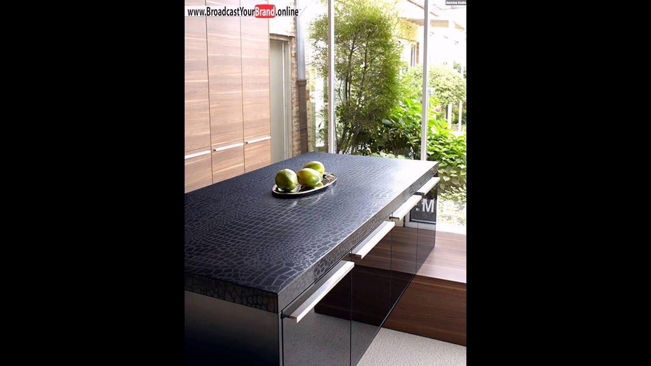 Caesarstone Arbeitsplatte Küche Quarz Schwarz  Youtube