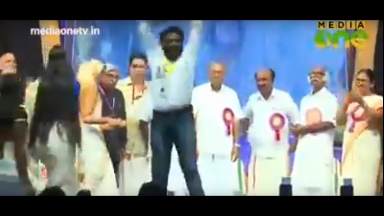 Vinayakan and Manikandan Epic celebrations after winning Kerala Film Awards