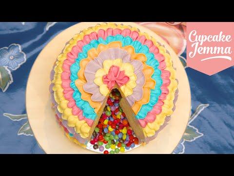 Save How to Make a Piñata Cake! | Cupcake Jemma Images