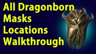 All Dragonborn Dragon Priest Masks Locations walkthrough - DLC - YouTube