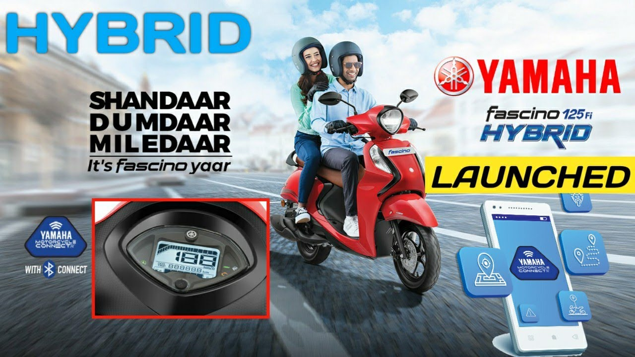 Yamaha Fascino Hybrid Launched in India | Price | What's New? | Bluetooth Connectivity | All Details
