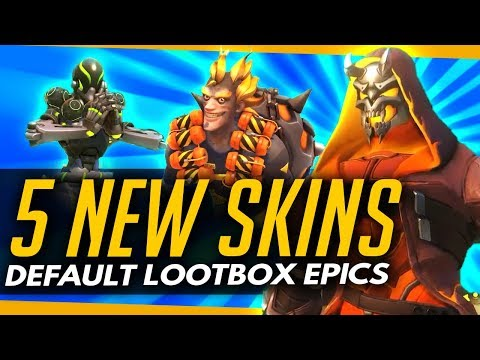 Overwatch | 5 NEW EPIC SKINS - NEW DEFAULT LOOTBOX ITEMS