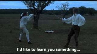 """You're very beautiful"" Slash duel from: Casanova's Return (1992)"