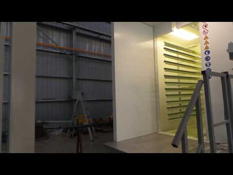 Horizontal powder coating line for extrusions Installed by Prism surface coatings from YouTube · Duration:  1 minutes 41 seconds
