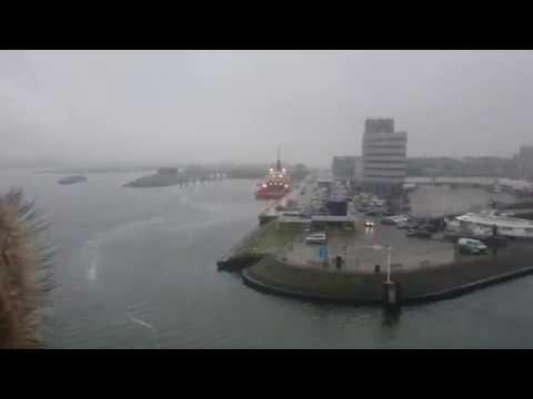 The port of Rotterdam Holland