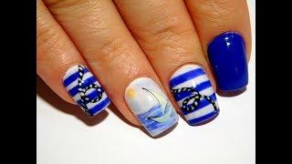 видео: Тельняшка ТОП Красивый и простой летний дизайн ногтей
