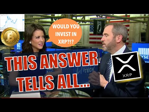 Ripple CEO Brad Garlinghouse Talks XRP - ONE ANSWER Blew Me Away + BTC Golden Cross = 170% & Sandbox