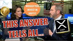 Ripple CEO Brad Garlinghouse Talks XRP - ONE ANSWER Blew Me Away + BTC Golden Cross = 170% & Sandbox