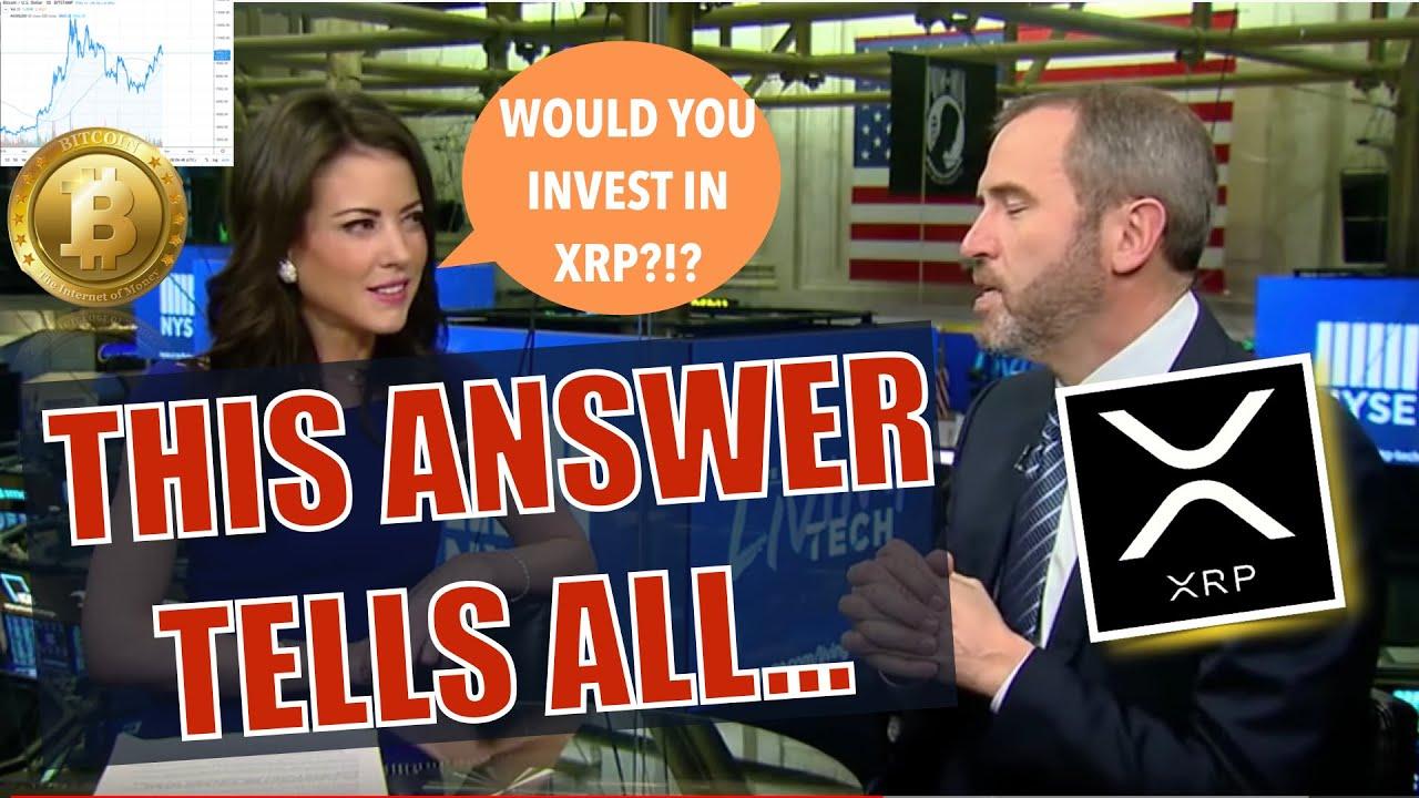 Ripple CEO Brad Garlinghouse Talks XRP - ONE ANSWER Blew Me Away + BTC Golden Cross = 170% & Sandbox 7