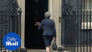 Theresa May arrives at Downing Street for special Cabinet meeting