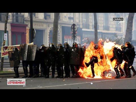 Attaques contre la police - L'Info du Vrai du 22/05 - CANAL+