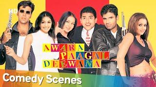 Non-Stop & Best of Comedy Scenes - Superhit Movie - Awara Pagal Deewana - Akshay Kumar- Johny Lever