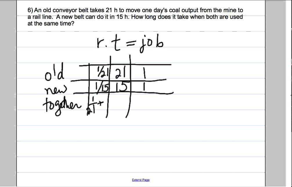 word problems involving work, rate and time - YouTube
