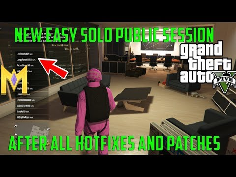 "GTA 5 Online Glitches - *NEW* EASY 100% SOLO ""Solo Public Session AFTER PATCH"" - Solo Public Lobby"