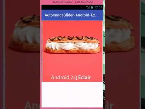 Android Multiple Auto Image Slider Example Tutorial using