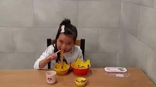 9살어린이 라면요리하기/라면먹방/아동쿡방