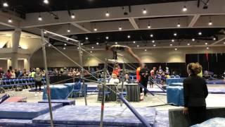 Keira's level 6 gymnastics bars Scega cali classics 2017
