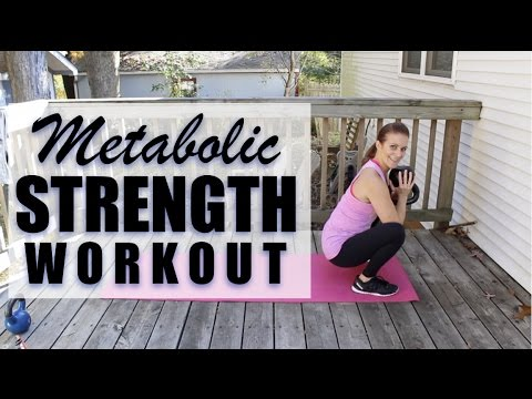 Metabolic Strength Workout with Kettlebell