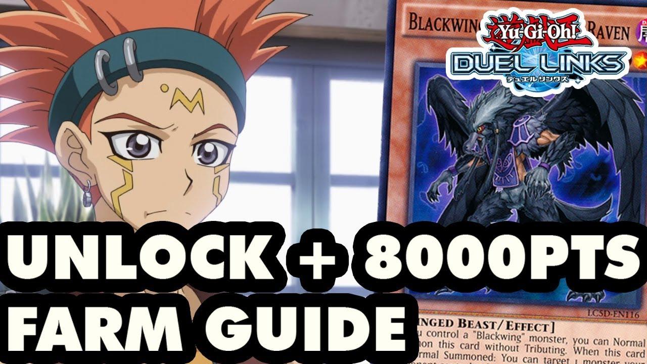 HOW TO UNLOCK CROW HOGAN + 8000 PTS FARM - Yu-Gi-Oh! Duel Links