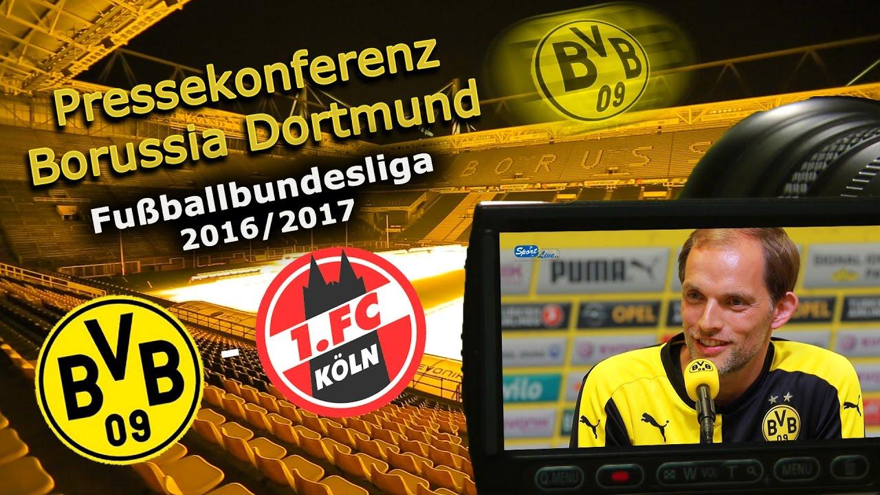 Borussia Dortmund - 1. FC Köln: Pk mit Thomas Tuchel