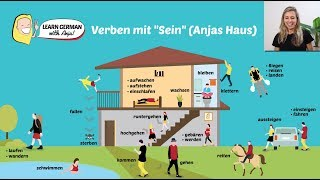 """REMEMBER THE 24 MOST USED VERBS WITH """"SEIN"""" (GERMAN PERFECT)"""