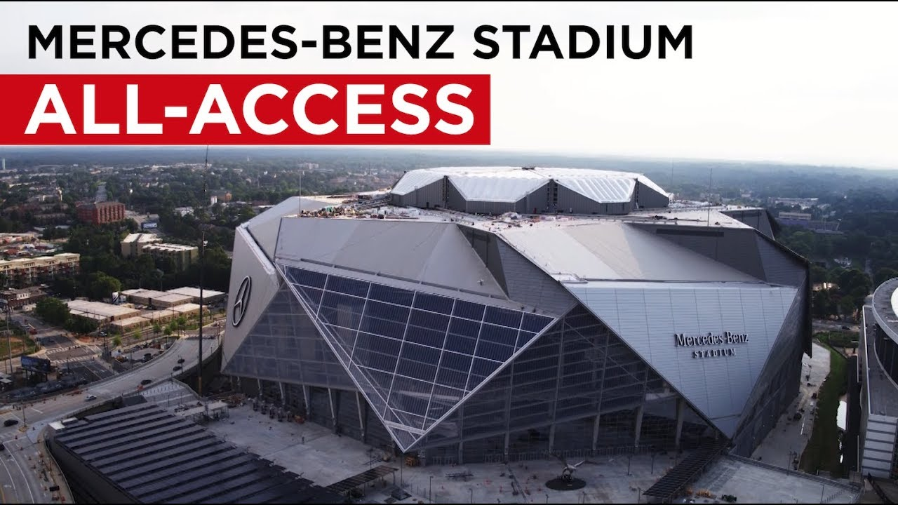Atlanta 39 s mercedes benz stadium all access youtube for Hotels near mercedes benz stadium