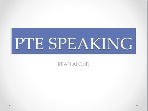 PTE SPEAKING - READ ALOUD TECHNIQUE FROM 87 SCORER