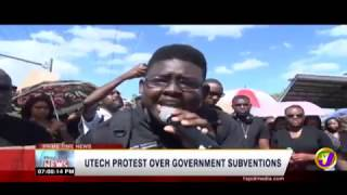 U-Tech Protests Gov. Subvention (TVJ News) FEB 20 2019