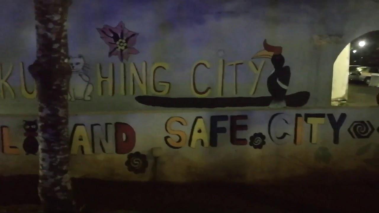 Kuching City Waterfront Night view