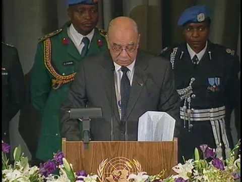 "Haiti Memorial: ""Their sacrifice will not have been in vain."" Haiti's U.N. Ambassador Leo Merores"