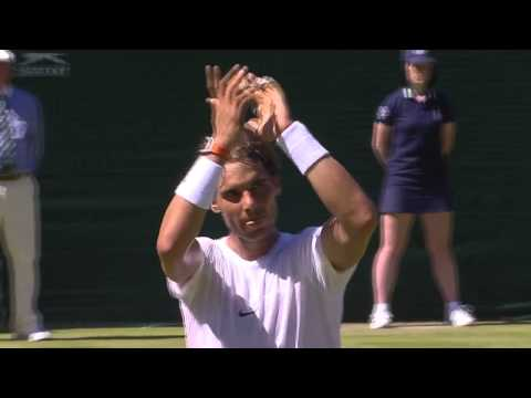 Rafael Nadal earns standing ovation with a stylish start at SW19